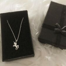 Gift of Love, Hope & Magic. Sterling Silver Unicorn Necklace with Gift Box.