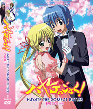 DVD Hayate The Combat Butler Season 1-4 (Episode 1-101). Dual Audio. English Dub