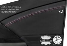 PINK Stitch 2X PORTA ANTERIORE IN PELLE DECORAZIONE carta copertura si adatta Honda Civic MK9 12-17