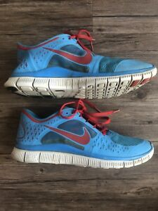 Men's Nike Free Run 3 Blue Red White Mens Running Shoe Sz 10 510642-403