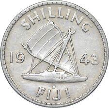 Better - 1943 Fiji 1 Shilling - TC *267