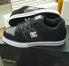 DC PURE 300660 Black/White (BLW)  NUBUCK LEATHER SKATE MEN'S US SZ 8.5
