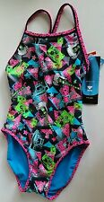 TYR Surf Reversible ROCK OF AGES Diamondback One Piece Swimsuit NWT Sz Small