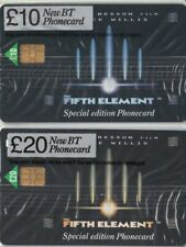 BT £10 & £20 FIFTH ELEMENT PAIR OF MINT SEALED PHONECARDS BRUCE WILLIS