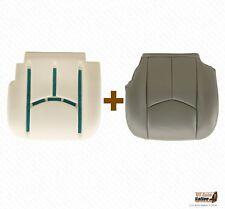 2003 - 2007 Chevy Silverado Driver Bottom Vinyl Seat Cover & Foam Cushion Gray