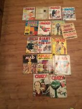 Lot Of 9 Cracked Magazines,3 Mad Magazines And 2 Crazy Magazines Late '70's-'80s