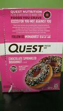 Chocolate Sprinkled Doughnut Quest Bar Protein Bar Box of 12 Exp 4/2020