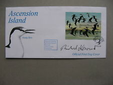 ASCENSION ISLAND, cover FDC 1994, S/S birds, autograph R. Howard (only 5 made)