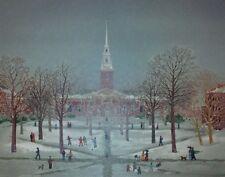"""Michel Delacroix    """"Harvard 350th Ann. Memorial Church""""   Lithograph      BA"""