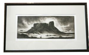 """Gene Kloss - """"Land Of Space"""" - Dry Point Etching 25/35 1982"""