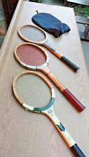 Don Budge set of 3 tennis/badminton Rackets