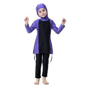 Girl Child Kid Modest Muslim Islamic Swimwear Swimsuit Beachwear Burkini Burqini