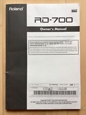 Roland RD 700 Owner's Manual/ Bedienungsanleitung engl.