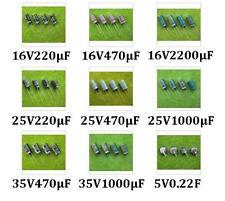 DR00 NEU 100 Stk. Elko Sortiment Kondensator 0.22F 2200µF 1000µF 470µF 220µF Set