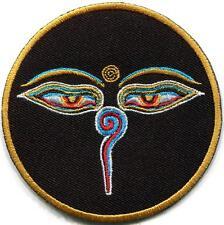 Eyes of Buddha buddhist trance aum om yoga boho applique iron-on patch S-1050