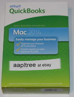 New Intuit QuickBooks 2014 for Mac, 1 User, FULL Retail version Sealed