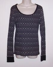 """Faded Glory Black & Gray Pull Over Top Ladies Large 12 /14 Bust 36"""" Length 26"""""""