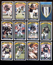 1990 San Diego Chargers Sticker Set JIM MCMAHON ANTHONY MILLER LESLIE O'NEIL
