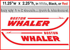 "Set of 2 Boston Whaler Decal stickers 11.25""w.... Buy qty2 get qty1 FREE"
