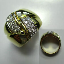 560 - Imposanter Ring - Wempe - 17,1 Gramm Gold 750 - Brillanten -966-