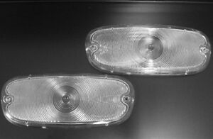 1958 1959 Chevy Truck Parking Lamp Lens PAIR Clear 58 59 Chevrolet Pickup lenses