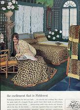 1960 Print Ad of Fieldcrest Leopard Print Bedding