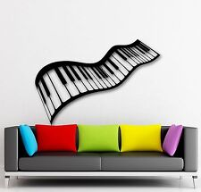 Wall Stickers Vinyl Decal Music Sheet Piano-Keys Musician Cool Decor (ig985)