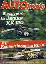 AUTO HEBDO n°266 14/05/1981 6h de SIVERSTONE FIAT RITMO 105TC WALTER ROHRL