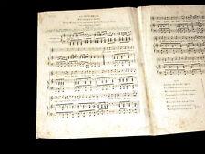 la sentinelle romance partition chant et piano ou harpe 1800 Bruault