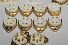 US style Gold 310A 42 UX6 6pin New Ceramic Tube Sockets x10 ham audio