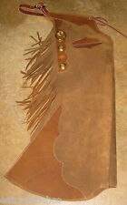 Batwing Leather Chaps Step In Laced Up Style All Handmade with Pockets Custom
