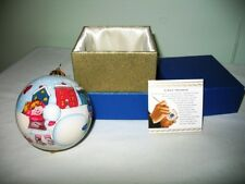 2015 PIER 1 IMPORTS LI BIEN GLASS ORNAMENT-CHILDREN BUILDING SNOWMEN-W/BOX!