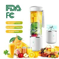 Portable Blender Juicer Cup USB Rechargeable Smoothie Mixer Bottle Travel 500ML