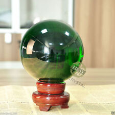 200MM Green Magic Crystal Healing Ball Sphere Include Wood Stand Gifts Decor