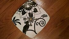 White And Black Peacock Clock -