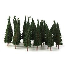 50pcs 1/100 Arbre Plante Sapin Maquette Trains HO N Paysage 6.5cm Vert