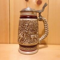 Vintage Collector THE OLD WEST Avon USA Lidded Beer Stein Gift MUG