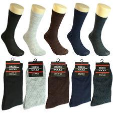 3-12 pairs Men Multi Color Grid Cotton Fashion Casual Dress Socks Size 10-13