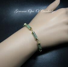 """14K gold 14ct Gold Jade Bracelet 6.32g 7"""""""