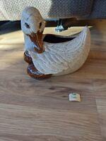 Vintage Royal Haeger Duck Sand Glaze Ceramic Planter