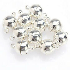 10 Sets Silver/Gold Plated Round Ball Magnetic Clasps 6/8mm For Jewelry Making E
