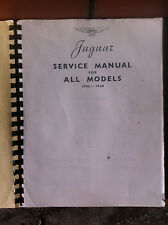 Jaguar 1946-1948, All Models Factory Shop or Service Manual Copy