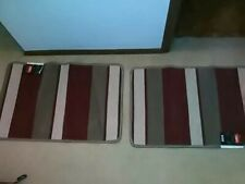 (2) STRIPED ACCENT RUG / FLOOR MAT * *NON-SKID, STAIN RESISTANT! New w/ tags**