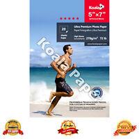 "Koala 20 Sheets 5x7 Pro Premium Advanced 7"" Glossy Inkjet Photo Paper Canon HP"