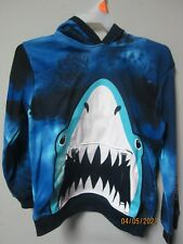 Garanimals Youth Boys 1-Piece Navy Shark Tie Dye Pull-Over Hoodie Size 7