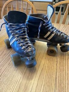 Custom Leather Roller Skates Women's 7.5  Wheels Sure Grip Century Sims The Fang