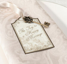 VINTAGE GOLD WEDDING - SET 24  WISH KEY TAGS for ALTERNATE GUESTBOOK SIGN