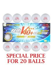 Double Fish V40+ Volant 3 Star Table Tennis Balls (20Pcs) White ITTF Approved