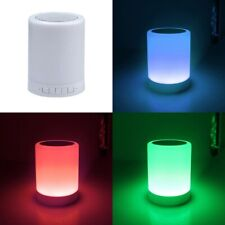 Altavoz Bluetooth con Lampara LED multicolor, 3W, alcanza 10 m, pc, android, iOS