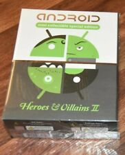 4 pc set Heroes & Villains II Android Andrew Bell Google Robot Figure vinyl toy